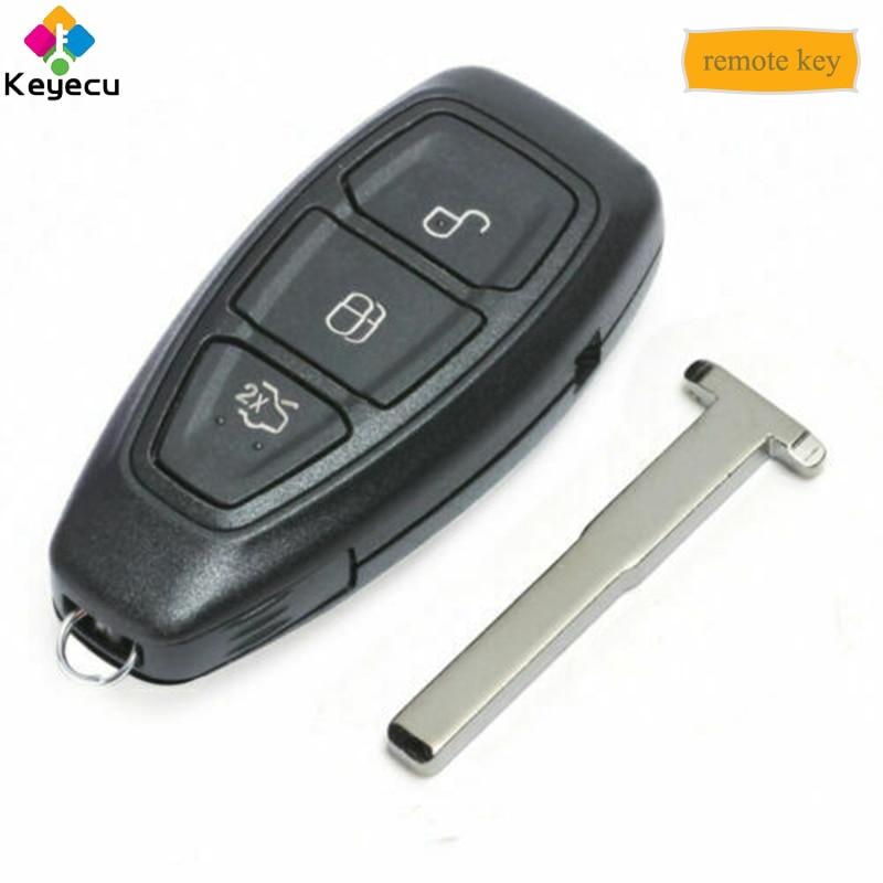 KEYECU Intelligent Smart Remote Key 434MHz ID83 Chip FOB for Ford Focus C Max B Max