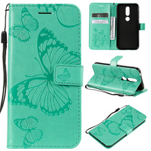 Butterfly Flip Wallet Case For Nokia 3.2 4.2 Cover For Nokia