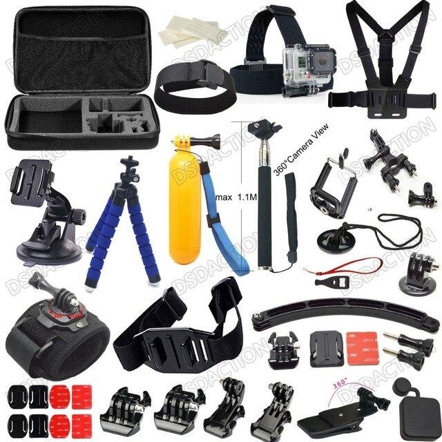 fef6cbfe1af Husiway 20-in-1 accessories for Gopro Set case tripod bike mount helmet arm for  Go pro hero3 Hero4   Gopro accessories kit 20C