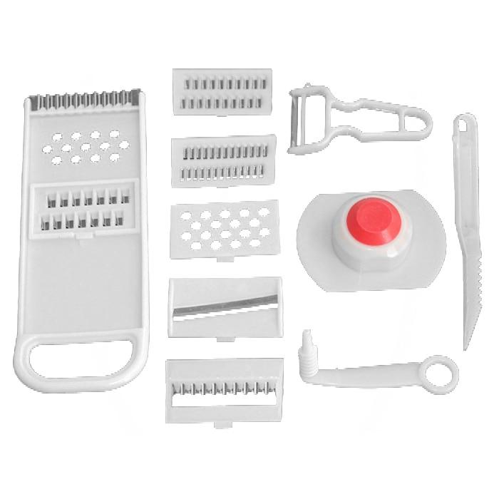 Multi-functional Grater&Slicer/Fruit&Vegetable Tools/Graters+Peelers&Zesters/Shredders&Slicers/kitchen tool (Color: White)