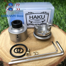 SXK HAKU VENNA rda 316 stainless steel 22mm diameter Tank For510 thread Vaporizer Box Mod Cigarette Electronic Drip Atomizer mtl original electronic cigarette 240w vaptio n1 pro tc box mod vaping mod support vw 18650 battery fits 510 thread tank atomizer