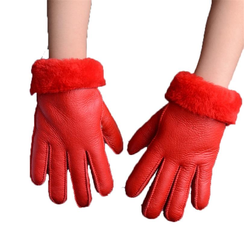 قفازات الشتاء الاطفال قفازات الفراء الحقيقي للأطفال سمكا قفازات جلد الأرنب الفراء 100٪ الصوف الطفل خمسة إصبع قفازات روسيا الدافئة