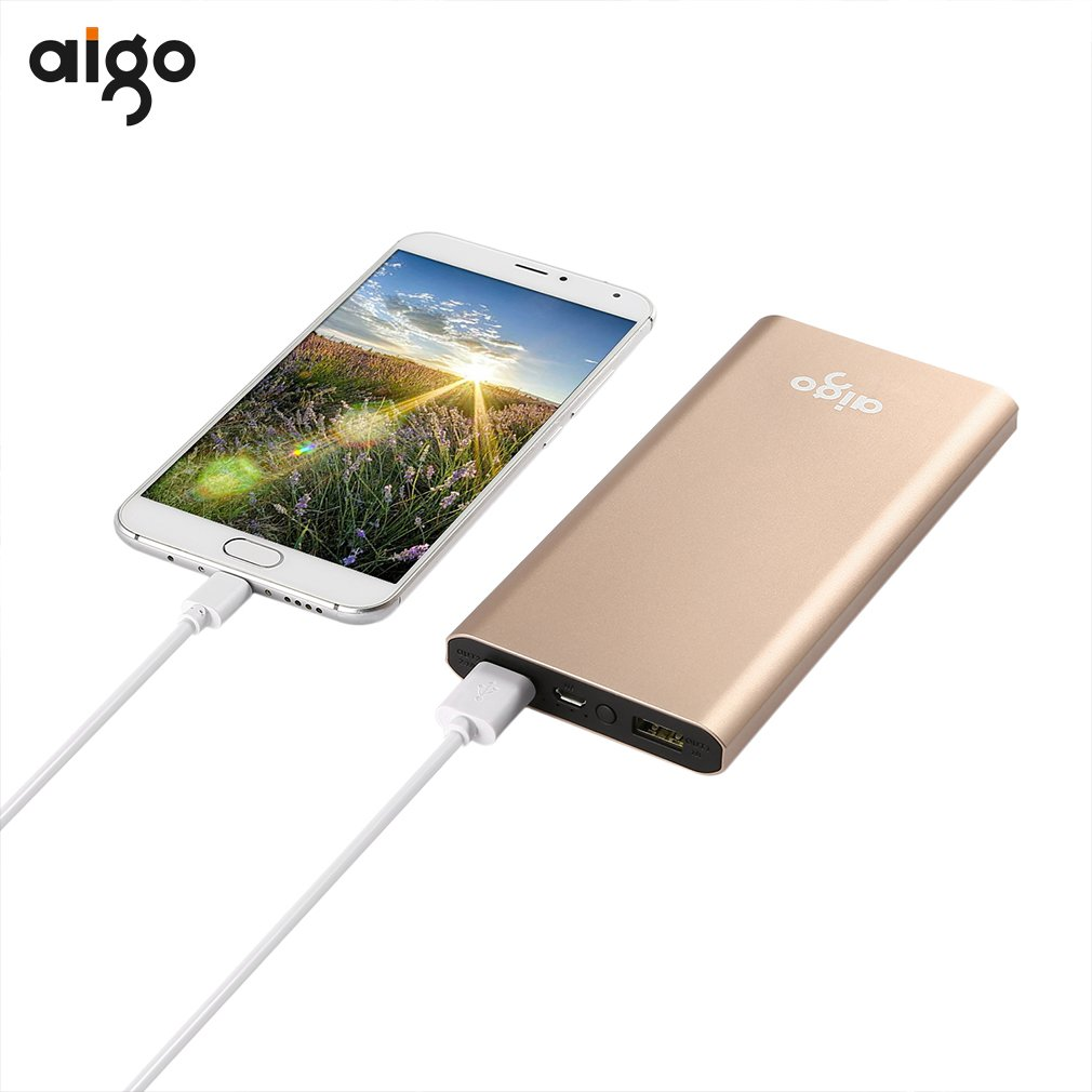 Hot sale Aigo power bank 10000mah portable quick charge power bank fast usb charger external <font><b>battery</b></font> pack <font><b>cellphone</b></font> powerbank