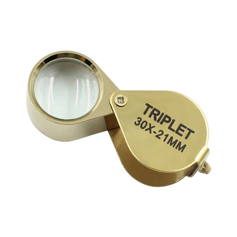 30X Power 21mm Jewelers Magnifier Gold Eye Loupe Jewelry Store Lowest Price Magnifying Glass with Exquisite Box
