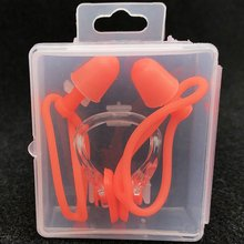 Waterproof Soft Swimming Earplugs Nose Clip Case Protective Prevent Water Protection Ear Plug Soft Silicone Swim Dive Supplies(China)