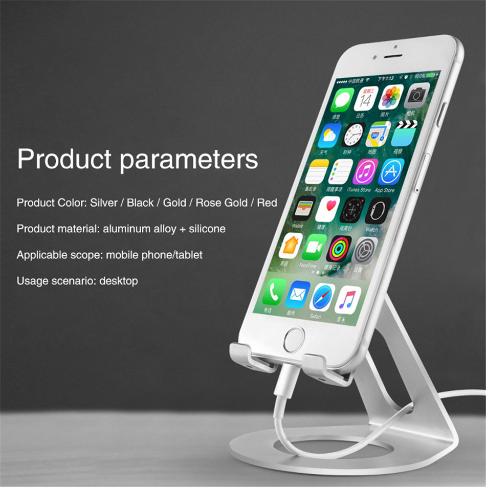Metal Mobile Phone Holders Stands Universal Tablet Stand Desktop Holder For iPhone X 7 8 Plus For Samsung S9 Plus For Huawei (3)
