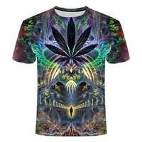 2019 nuevo estilo de verano para hombre Camiseta colorida galaxia espacio psicodélico Floral 3D estampado mujeres/hombres camiseta Hip Hop casual camisetas Tops