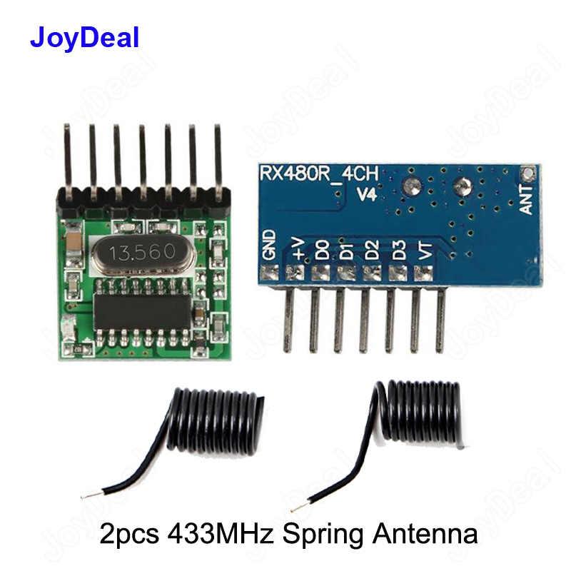 433 เมกะเฮิร์ตซ์ไร้สาย RF รีโมทคอนโทรลสวิตช์ 1527 ถอดรหัส 4CH Receiver และ Transmitter โมดูลสำหรับไฟ Led ถาม Arduino Uno DIY ชุด