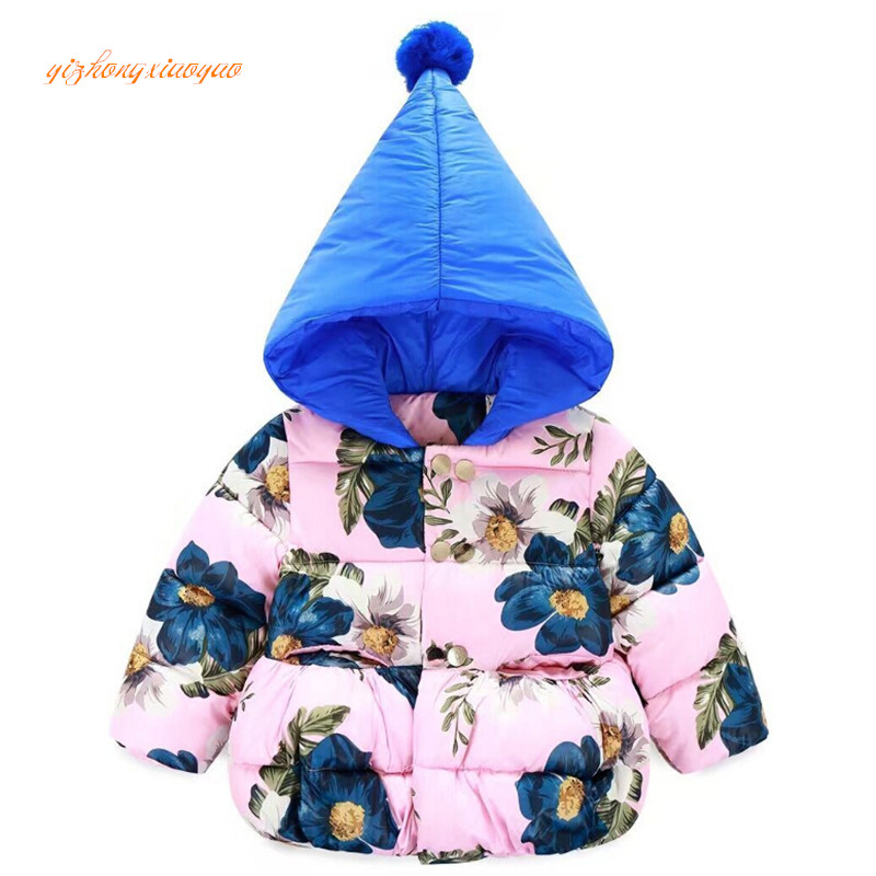 Children's Winter Jackets 2016 Fashion Hooded Baby Girls Cotton-Padded Coats Warm Thick Outerwear Kids Clothes Infant Clothing baby girls parkas 2017 winter thick outerwear casual coats children clothing kids clothes solid thicken cotton padded warm coat