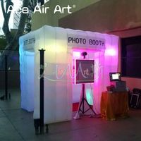 Exquisite 2.4m lawn tent inflatable photo booth,digital camera room background with nicely led light for outdoor/indoor party
