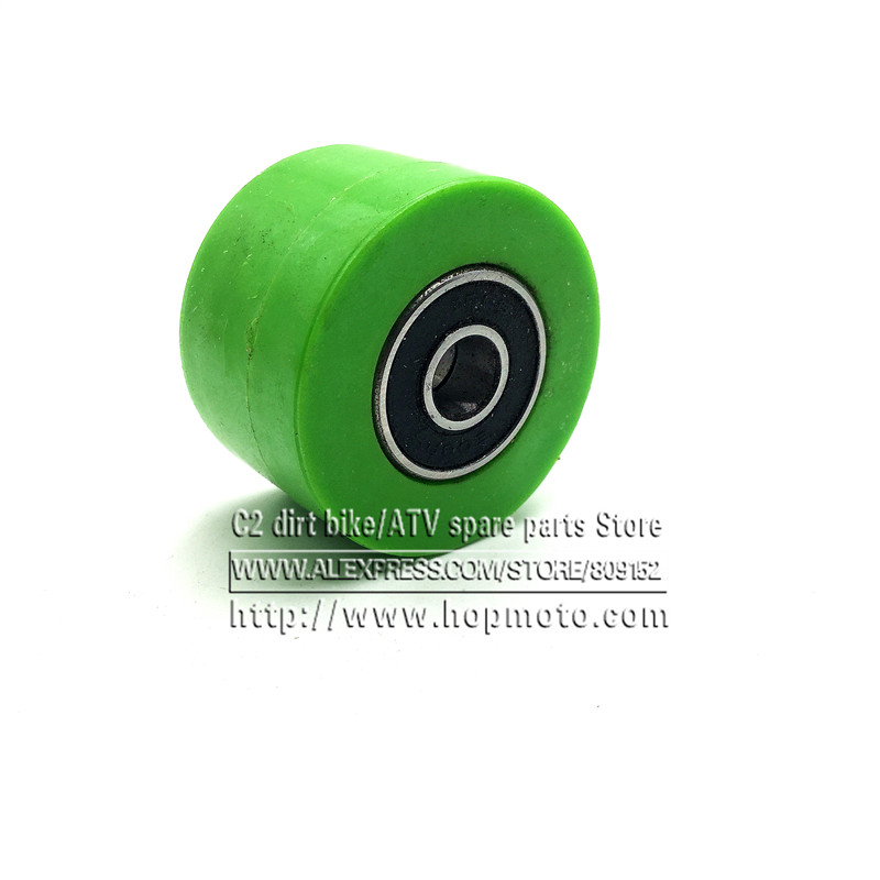 M8 8mm bearing Drive Chain Pulley Roller Slider Tensioner Wheel Guide For Pit Dirt Street Bike Motorcycle Atv CRF GREEN Colour