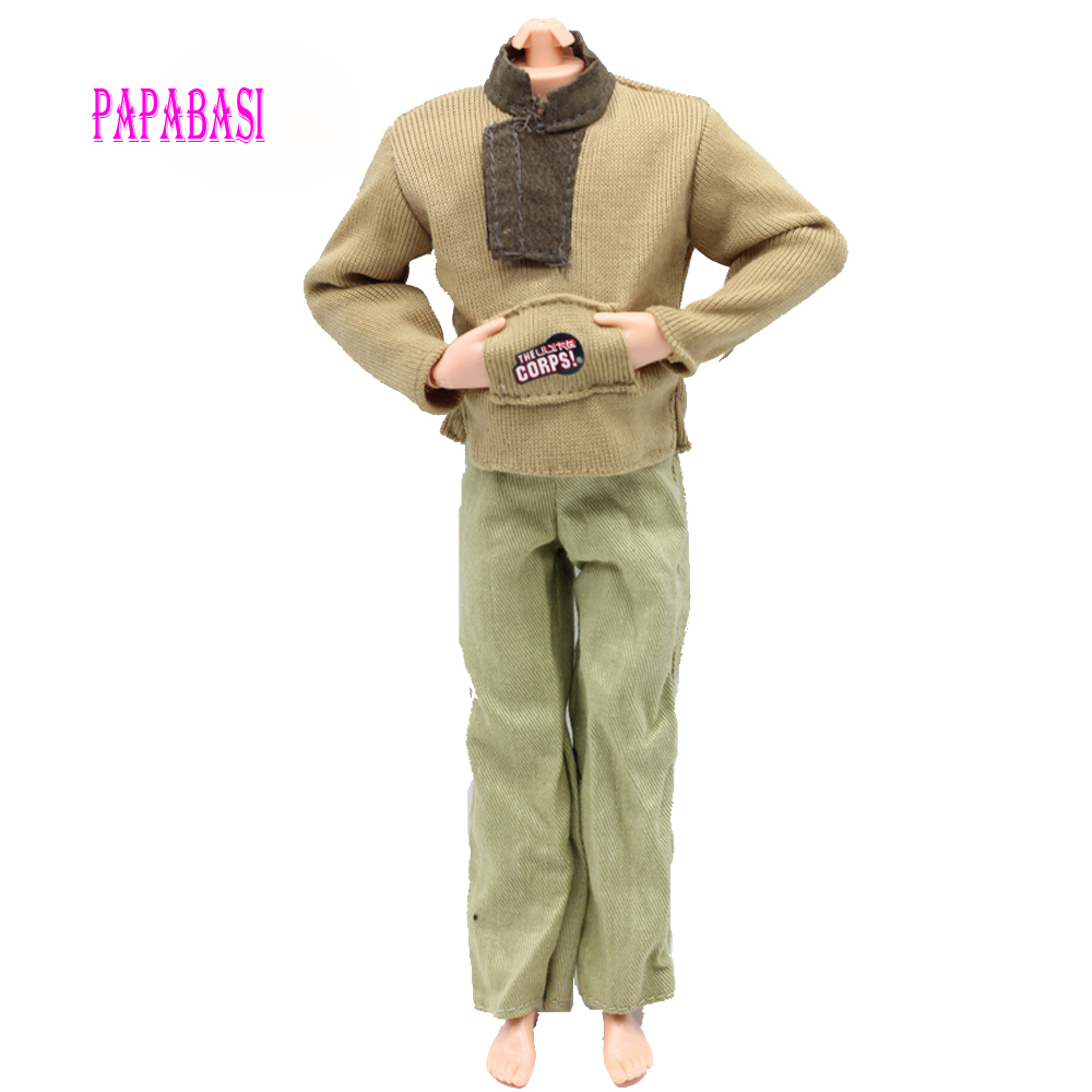 One Set Prince Doll Casual Handmade Clothes Fashion Outfits for barbie boy firend for barbie doll