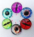30pcs/lot Cat eye Glass Cabochons round 20mm Flatback for Necklace bracelet Earrings DIY Jewellery