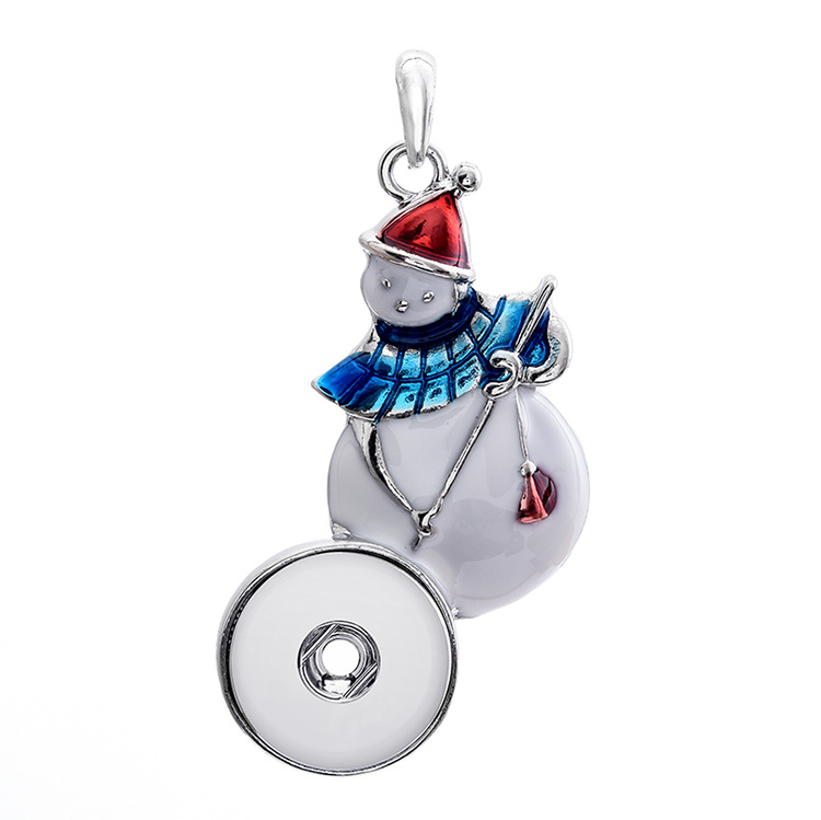10pcs Metal snap jewelry Christmas button Snowman hat Gift pendant Necklace OEM, ODM (fit 18mm snaps) watches