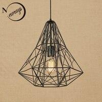 Retro black iron cage pendant lamp Loft pendant lights cord LED vintage E27 for Living room dining room restaurant bedroom