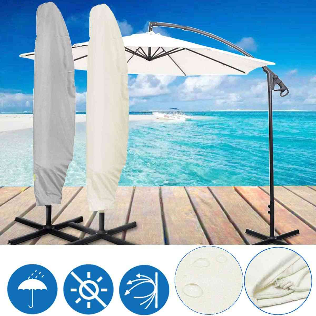 265cm 30X81X46cm Outdoor Banana Umbrella Cover Garden Patio Cantilever Parasol Protective Cover With Zipper Waterproof Dustproof