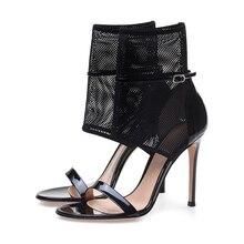 Women Sandals Summer Mesh Ladies Stiletto High Heels Sandals Sexy Open Toe Wedding Shoes Summer Party Sandals Black TL-A0059 стоимость
