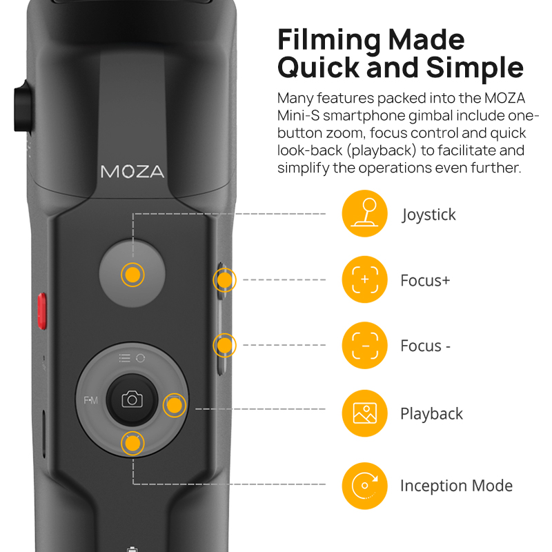 MOZA мини S 3 оси Gimbal стабилизатор Карманный складной для iPhone huawei Gopro действие Камера VS мини Ми zhiyunSmooth 4 - 3