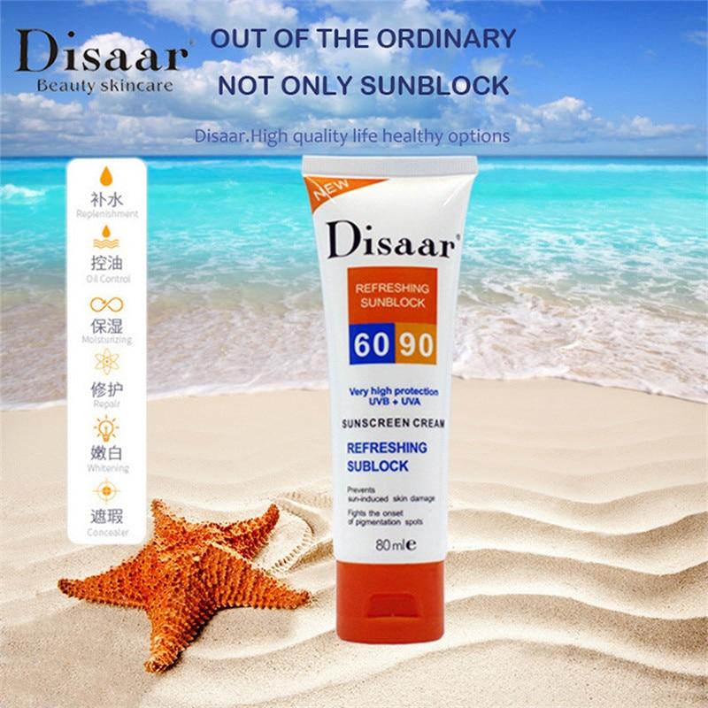 10PCS Sunscreen Cream Spf 90 ++ Moisturizing Skin Protect Sunblock 80g Face Care Prevents Skin Damage, Remove Pigmention Spots