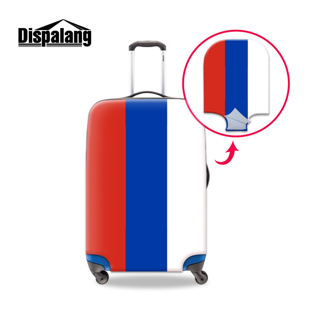 Dispalang National Flag Travel Luggage Protective Cover For 18-30 Inch Trolley Case Elastic Suitcase Dust Covers With Zipper