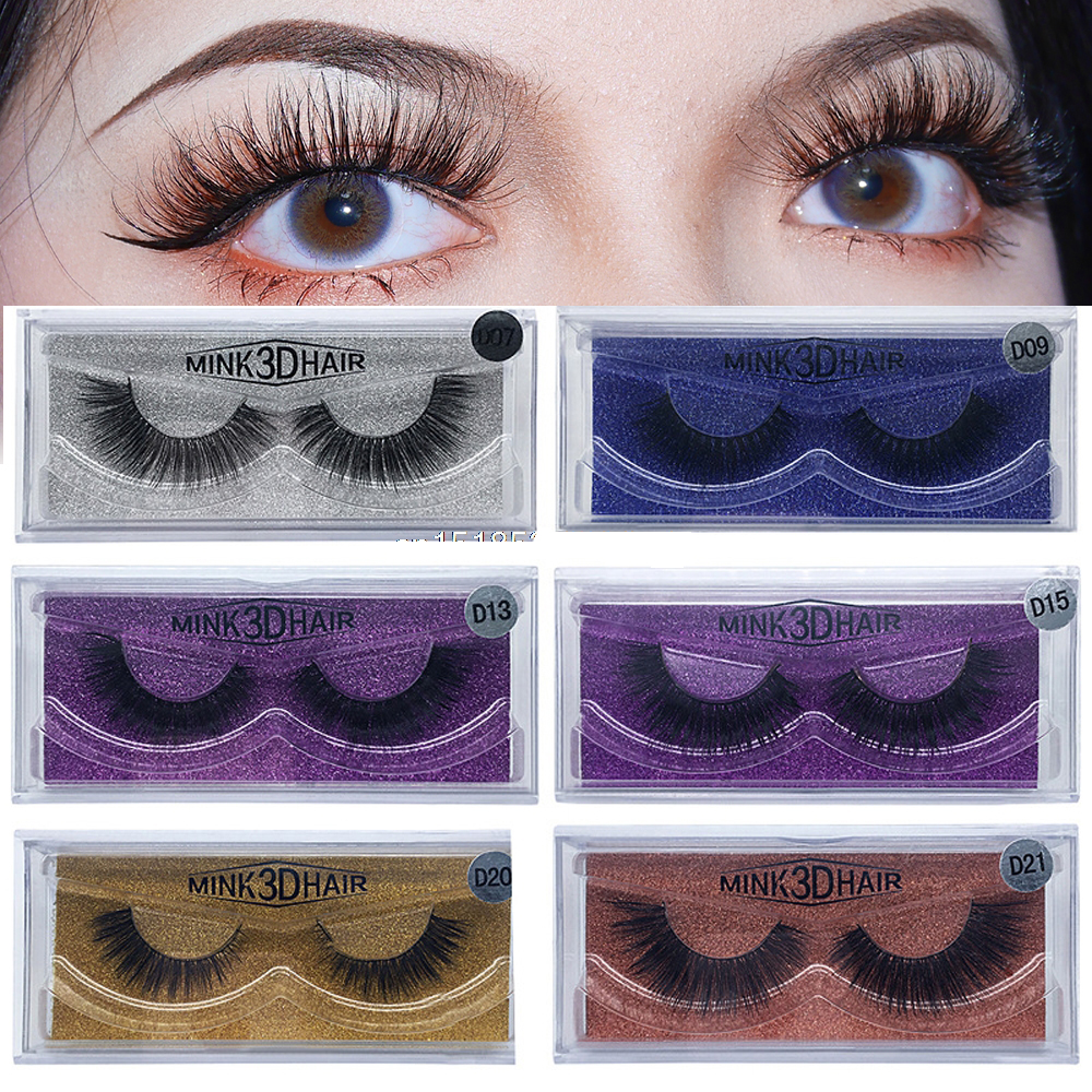 31010be20d2 MB 100% Real 3D Mink Lashes Thick HandMade Full Strip False Eyelashes  Extension Makeup Beauty Long Eyelashes 15 Styles