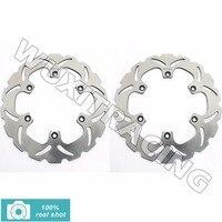 2x rotores de discos de freno delantero para yamaha xj 600 900 f r 83-91 FZ 750 GENESIS 87 88 FZX 750 FAZER 86-90 XV 750 VIRAGO 1100 86-98