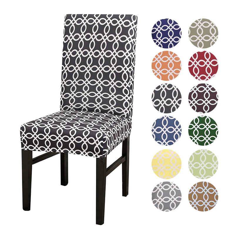Geometric Spandex Chair Cover Dining Room Chair Slipcover Home Party Wedding Decoration Chair Cover Stretch Elastic