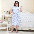 Free Shipping New 2016 plus size Sleeveless Sleepwear Women Large Size Nightgown Elegant Noble Cotton Homedress Size XL-5XL