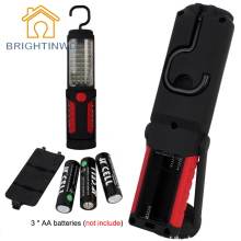 Super Bright Portable Light 36+5 LED Flexible Hand Torch Work Light Magnetic Inspection Lamp Flashlight Torch Battery Powered