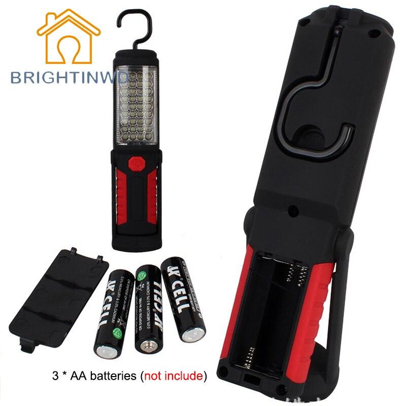 Super Helle Tragbare Taschenlampe Arbeit Licht 36 + 5 LED Flexible Hand Taschenlampe Leistungsstarke Magnetische Inspektion Lampe BRIGHTINWD