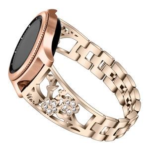 Image 5 - 20mm 22mm Diamant Metalen Band Voor Samsung Gear Sport S2 S3 Galaxy Horloge 42mm 46mm Actieve band Voor Amazfit Bip Huawei GT 2 Pro