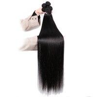 Mstoxic Straight Hair Bundles 30 Inch Bundles 32 34 36 38 40 Inch Brazilian Hair Weave Bundles Remy Human Hair Extension 1Pcs