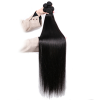 Mstoxic Straight Hair Bundles 30 Inch Bundles 32 34 36 38 40 Inch Brazilian Hair Weave Bundles Remy Human Hair Extension 1Pcs