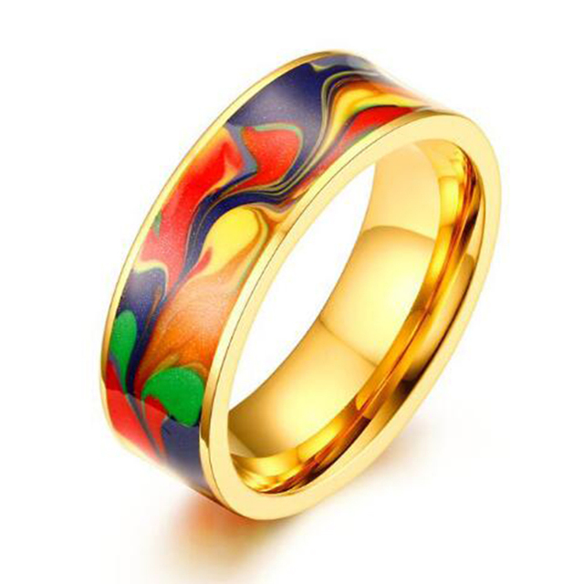 2017 Fashion Ring For Men Silver Gold Color Stainless Steel Wedding