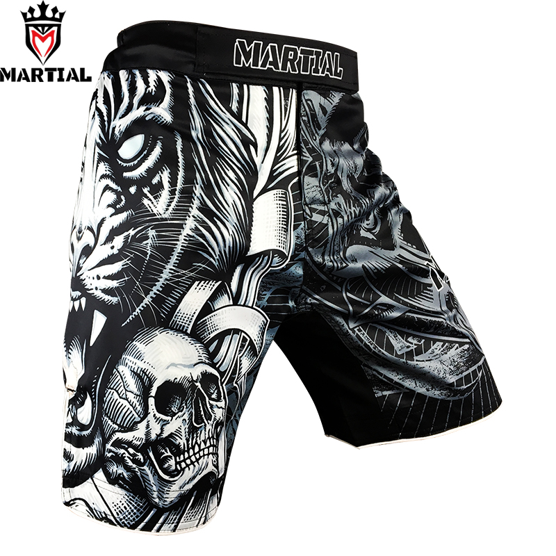 Martial :The TIGER MMA shorts BOXING short mma four way stretch fitness shorts kickbox trunks training shorts men