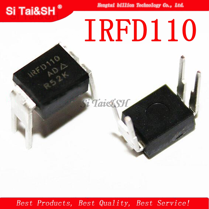 10pcs/lot IRFD110 DIP-4 Field Effect Favorable Line 100%good