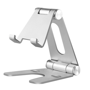 ABKT-Rotatable Aluminum Alloy Tablet Holder For Ipad Air 1/2 Mini 1/2/3/4 Pro 9.7 10.5 12.9 Foldable Cell Phone Holder Stand
