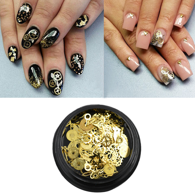3d nail art decorations steampunk gear wheel alloy nail decoration 3d nail art decorations steampunk gear wheel alloy nail decoration tips industrial machinery components parts rock style metal in rhinestones decorations prinsesfo Gallery