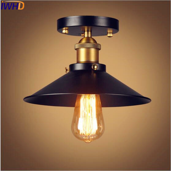 IWHD Edison Retro Vintage LED Ceiling Lights Fixtures Plafon Loft Industrial Ceiling Lamp Light Home Lighting Lampara Techo retro retro loft style edison industrial ceiling lamp antique iron glass vintage ceiling light fixtures home lighting lampara