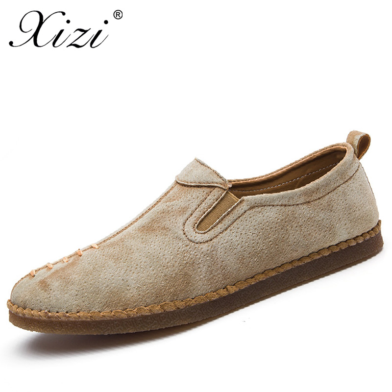 XIZI Brand Men Casual Style Shoes Male Handmade Soft Moccasins Loafers High Quality Leather boat shoes Men Flats Driving Shoes vesonal 2017 quality mocassin male brand genuine leather casual shoes men loafers breathable ons soft walking boat man footwear