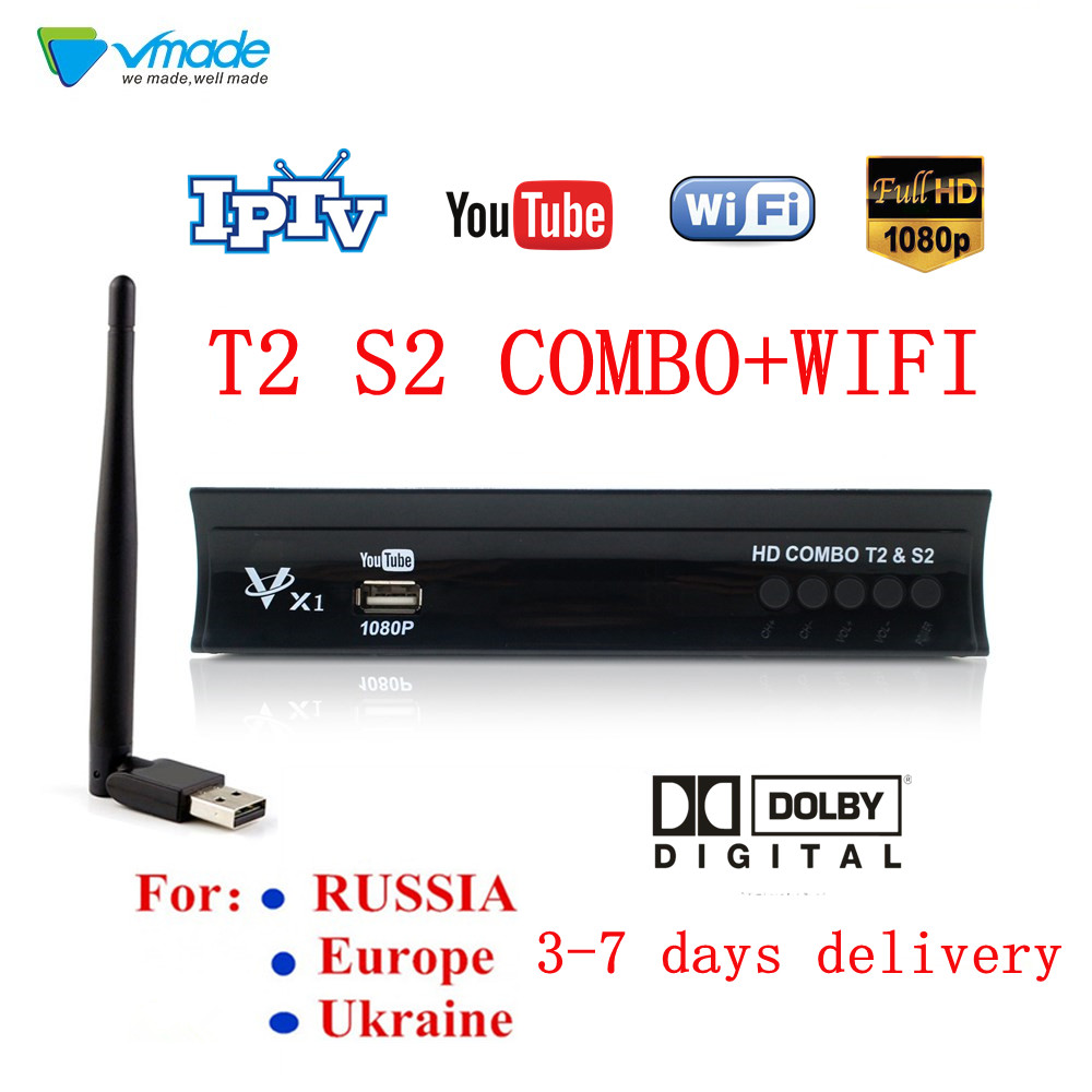 Full Hd Digital Satellite Receiver Dvb T2 S2 Combo Tv Box Terrestrial Tv Tuner H.264 Support Dolby,YOUTUBE,CCCAM,IPTV With WIFI