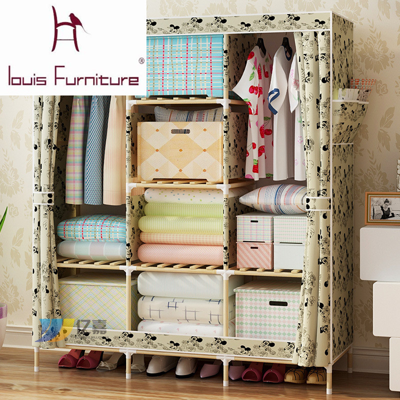 Online Shop Bedroom Furniture Garderobe Non Woven Cloth Wardrobe  Combination Folding Frame Bedroom Furniture Wardrobe Cabinet Storage Box |  Aliexpress ...