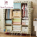 Bedroom furniture garderobe non-woven cloth wardrobe combination folding frame bedroom furniture wardrobe cabinet storage box