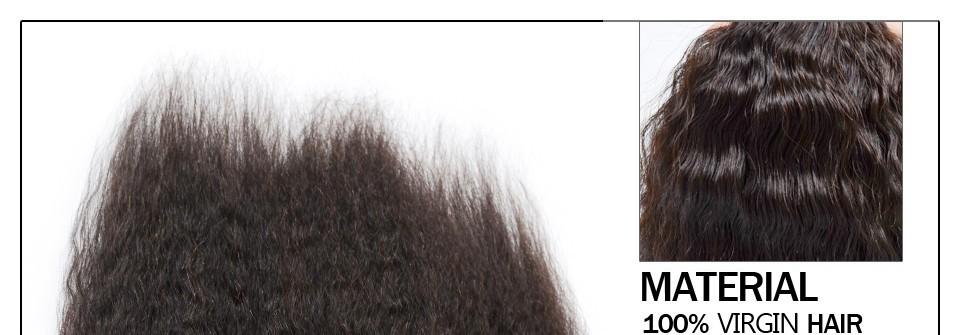 Peruvian Kinky Straight Hair Weave 4 Bundles Grace Hair Products Coarse Light Yaki Virgin Hair Italian Yaki Human Hair Bundles