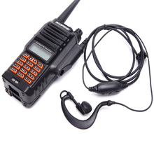 3 conjunto 8 w poderoso rádio em dois sentidos baofenguv 9r waterproof ip 67 136 174mhz 400 520mhz vhf rádio presunto uhf UV 9R