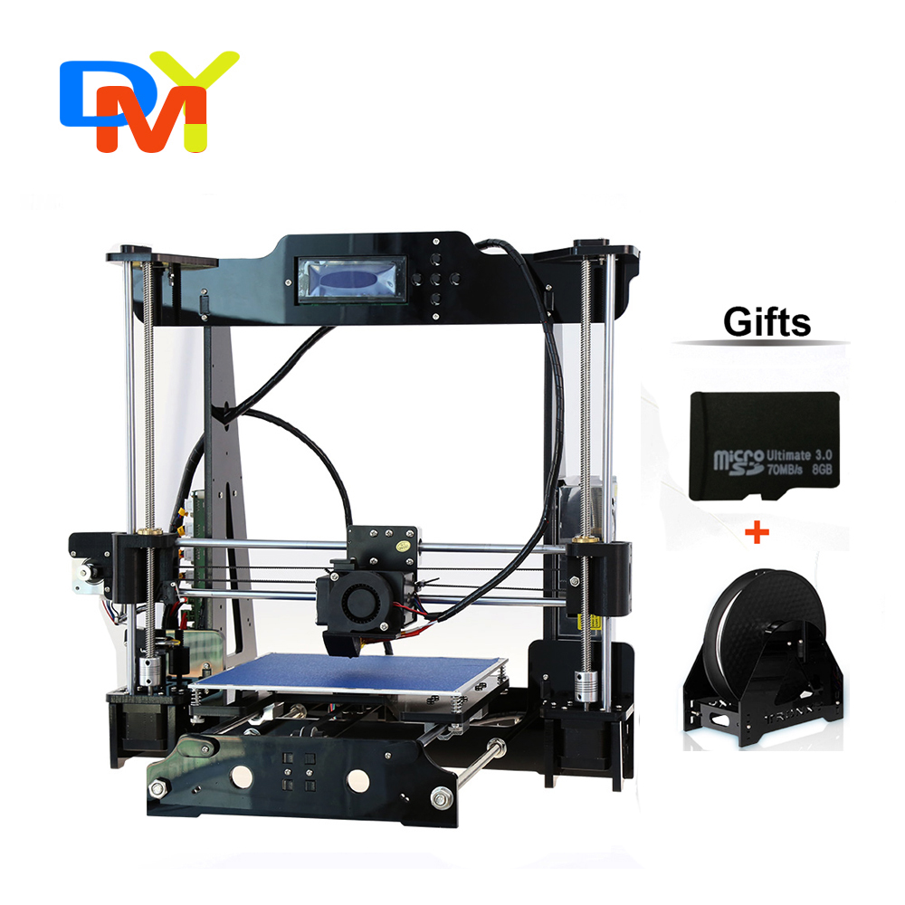 Big size 220*220*240mm High Quality Auto Leveling Precision Reprap Prusa i3 3d Printer DIY kit with 1 Roll Filament 8GB SD card