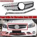 C63 Для AMG гриль автомобильный передний бампер решетка гриль для Mercedes для Benz W204 C63 Для AMG Седан 2008 2009 2010 2011 гоночные грили