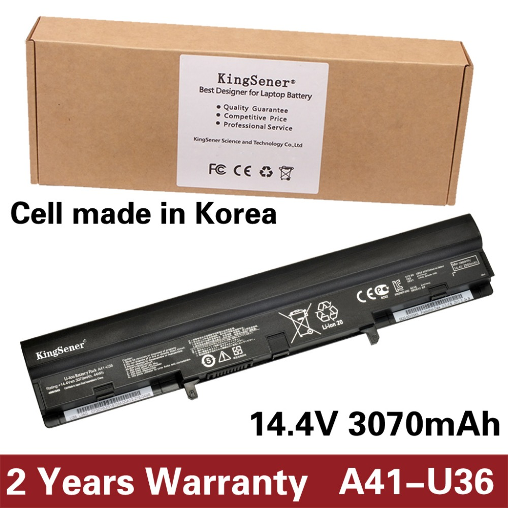 KingSener Korea Cell A41-U36 Laptop Battery for ASUS U36 U36J U36S U36SD U36JC U36SG U36K U82E U82U U84S U32 U44SG U84SG A42-U36 original for asus u36 u36s u44s u36sg u36sd u36j u36jc hard disk interface card hdd small board tested well free shipping