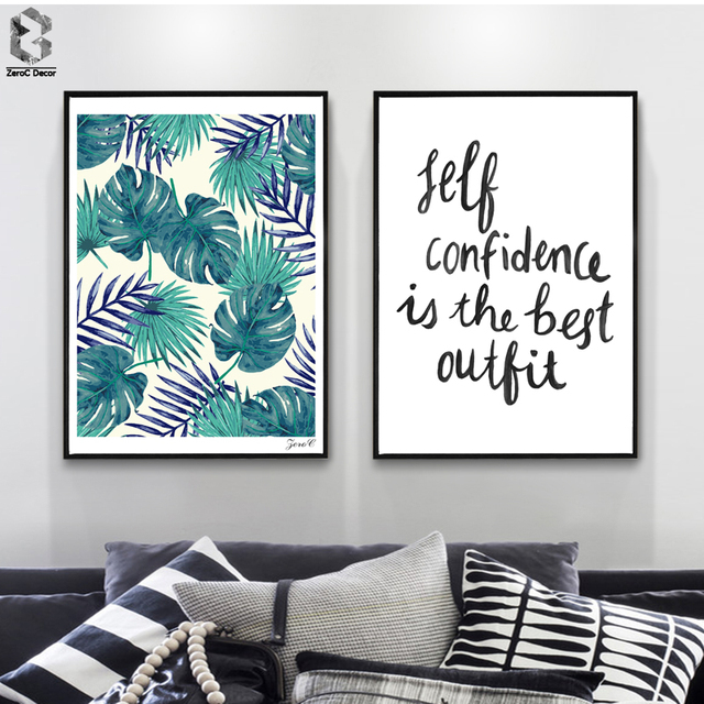 Tropical Palm Canvas Posters and Prints, Wall art Quotes Painting ...