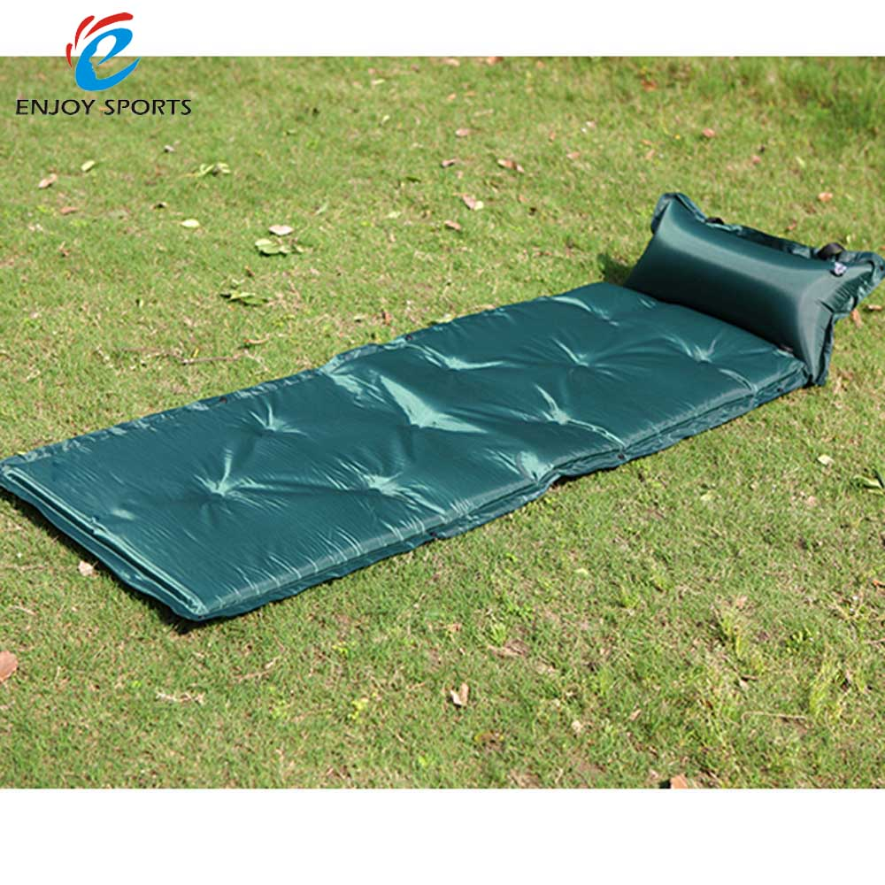 183 * 57 * 2.5cm Automatic Inflatable Camping Mat Waterproof Dampproof  Outdoor Sleeping Mat Pad Tent Air Mattress with Pillow